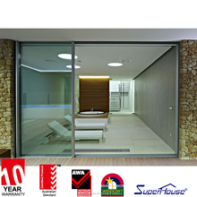 Australian and New Zealand Standard soundproof Finish balcony Aluminium partition sliding Glass Door For Lounge