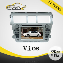 Factory price For toyota vios car dvd player gps navigation with RADIO BT navigation camera for free