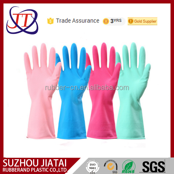2016 natural rubber household glove hand protection
