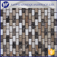 Black and white marble floor covering mosaic tiles