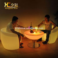 Plastic Round Customized LED Cocktail Table Holiday Decorative Desk