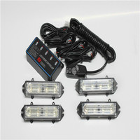 16 LED Amber car Decorated Flash Strobe Emergency Lights