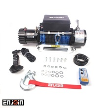 ENJOIN 9500lbs 12V 4x4 off road electric winch with synthetic rope / wire rope