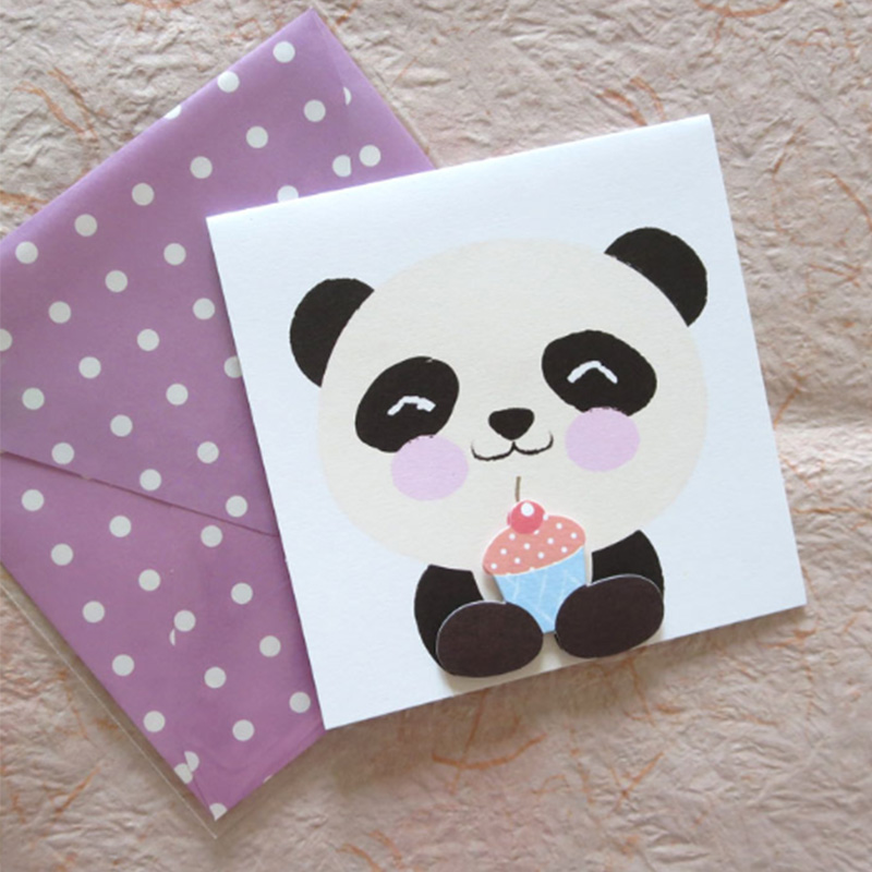 Wholesale Colour paper greeting card for kids birthday /holiday