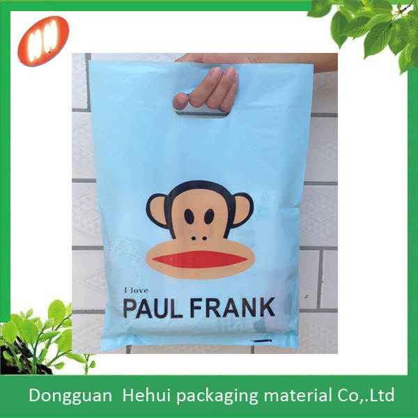 Shopping Plastic carrier bag with patch handle