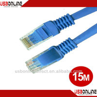 15m Cat5e UTP RJ45 cable Ethernet Network 350MHz 28AWG CCA PVC cable