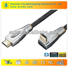 Hot sell right angle hdmi cable and right angle hdmi wire for computer and with Etherent