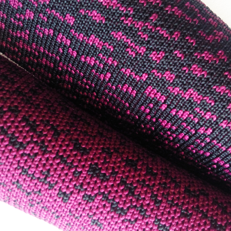 "Fly knitting for shoes upper polyester fabric material thickness 2.1mm width 55"" two colors KS-7145"