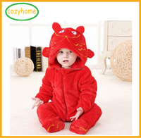 2017 Hot Sale Toddlers' Pajamas Plush &Cozy Baby Animal Romper Unisex Cosplay Animal Onesie Costume romper