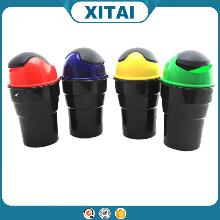 Hot sale XITAI car accessories plastics kitchen /car/table trash garbage with lids art.-no.B034