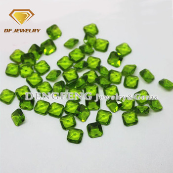Green color square crystal glass stone