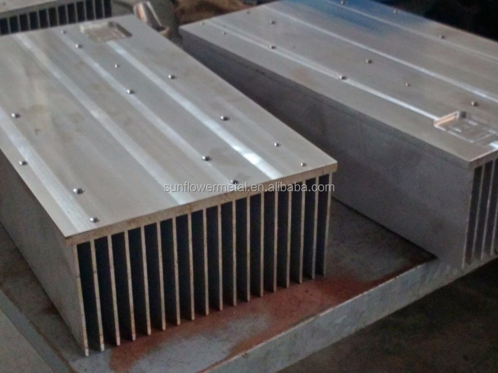 High quality CNC machined extruded aluminium extrusion heatsink