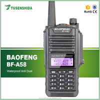 The Latest Waterproof baofeng a 58 UHF VUHF handheld radio with high battery