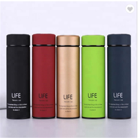 Hot Selling 17oz Matte Surface Double Walled Vacuum Insulated stainless steel Water Bottles Travel flask with Tea Filter