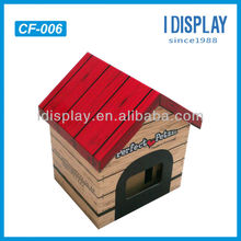 custom design printable corrugated cardboard pet house for retail