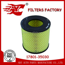 Manufacture of car air filter17801-35030 17801-54070
