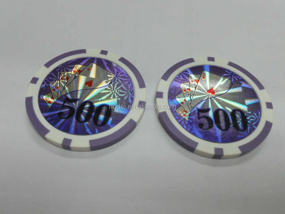 new design 13.5g sticker poker chips