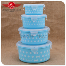 High quality round plastic preservation box / storage box with lid /Crisper