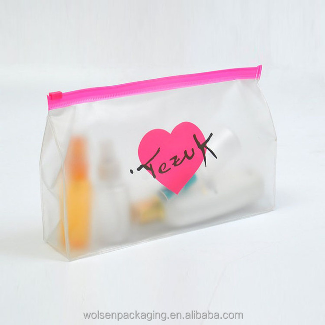China Supplier Pvc bag, Clear plastic cosmetic bags with zip,Wholesale cosmetic clear plastic bags