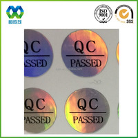cheap price custom small round qc pass paper sticker adhesive qc pass sticker