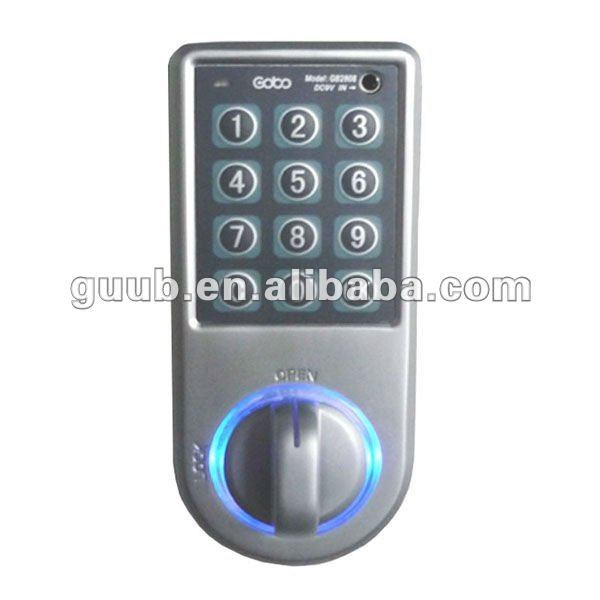 Keyless electronic file cabinet locks