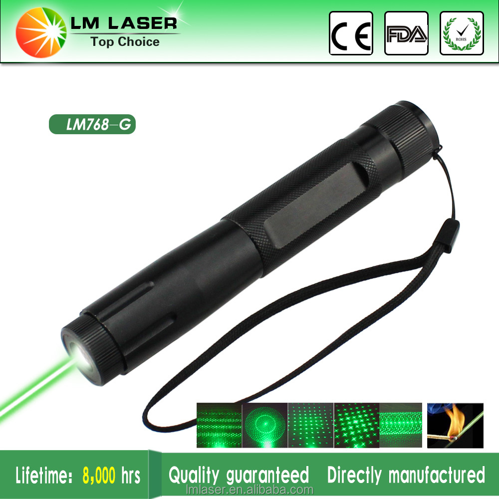 wholesale rechargeable 532nm green laser pointer 100mW adjustable focus laser pen with 5 caps
