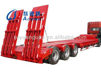 FUWA 3 axles 13m flatbed truck semitrailer with steel leaf spring suspension