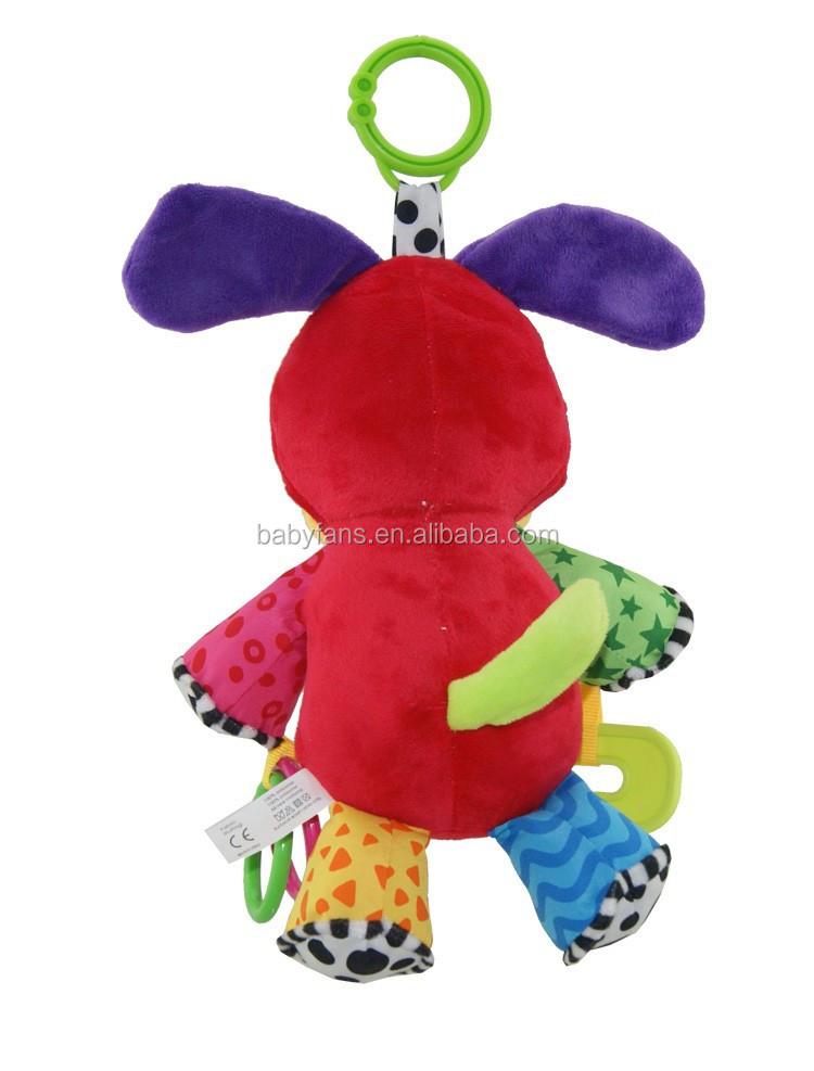 b b musique suspendus jouets chien en peluche animal jouet de b b jouet ducatif enfants. Black Bedroom Furniture Sets. Home Design Ideas