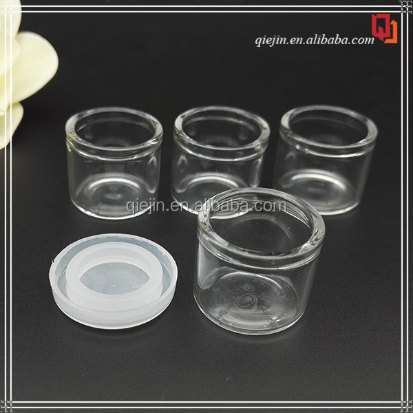 Free sample!! 5ml mini sample clear cosmetic eye cream glass jar 3ml China supplier