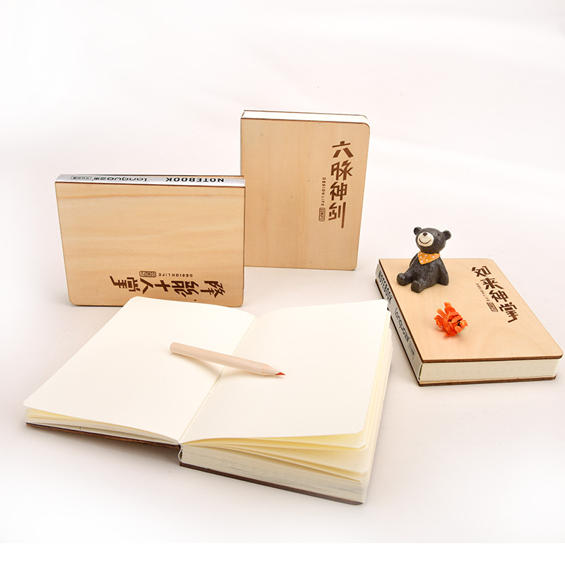 Languo Style Eco-friendly Wooden Cover Notebook