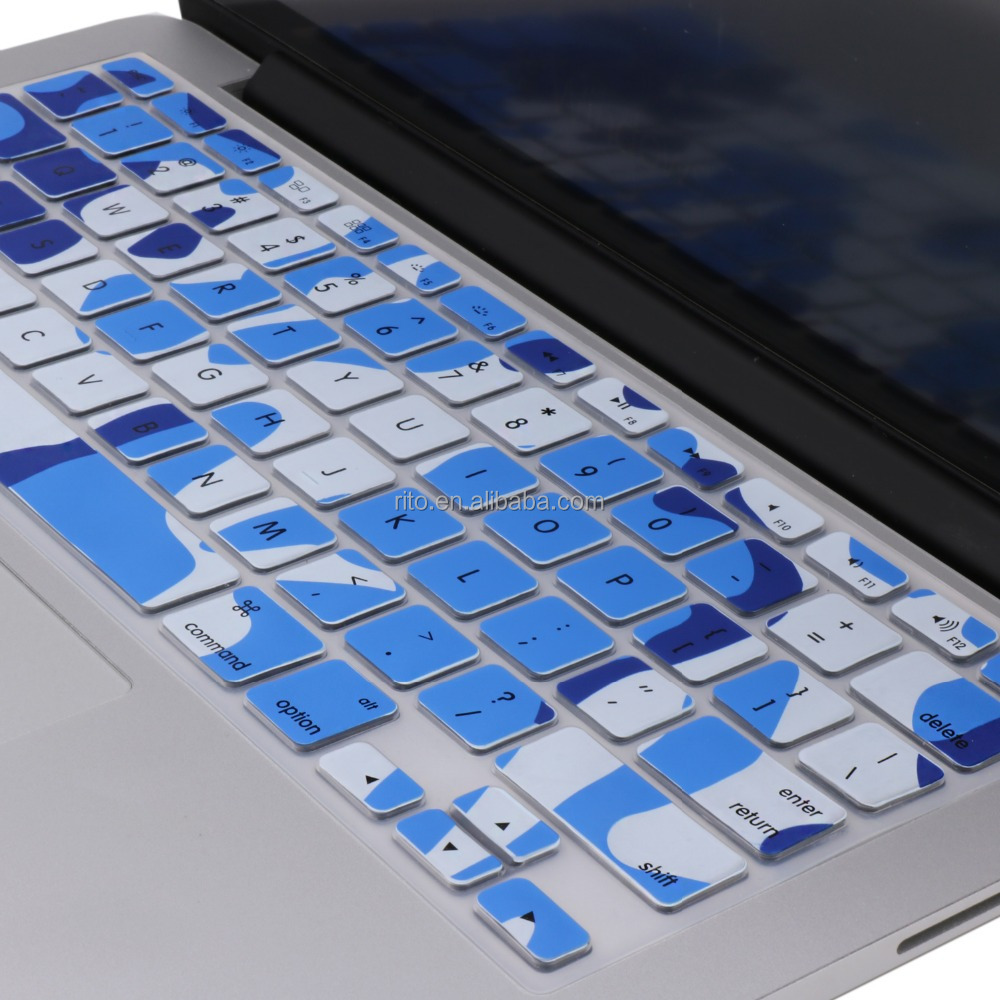 Camouflage Silicone Keyboard Cover Skin for MacBook Keyboard protector