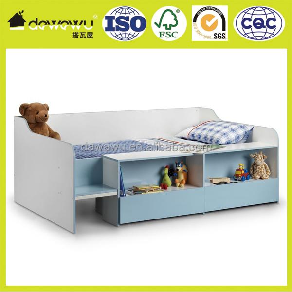 Happy Beds Cabin Bed 3ft Wooden Low Sleeper Storage Kids Bedroom Mattress