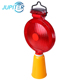 High visibility yellow color led solar traffic flashing warning light