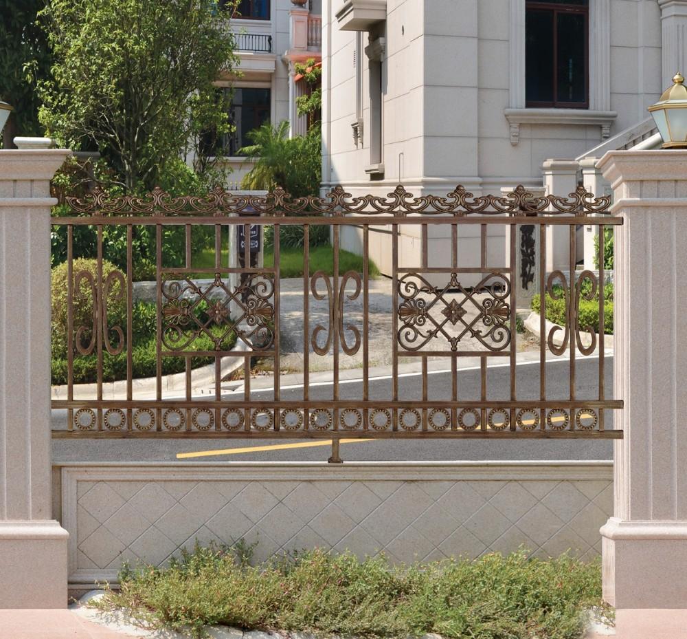 Latest modern simple ornamental cast aluminum fence new for Recinzioni in muratura per ville