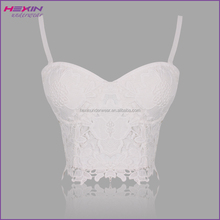 2016 Hot Selling See Through White Corset Lace Bodice Western Wedding Corsets Top