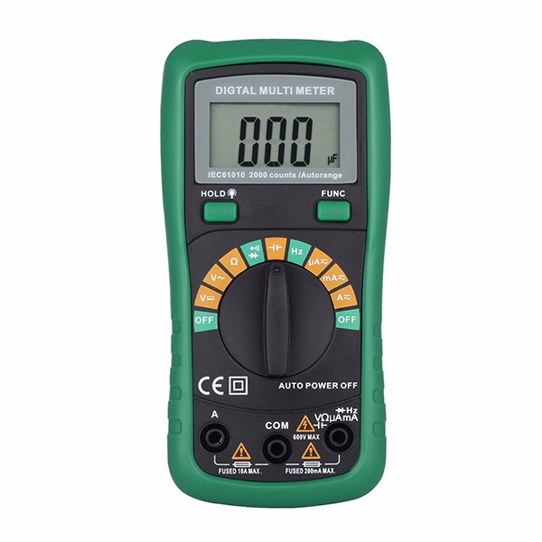 Pocket Automotive Multimeter Digital with 2000uF Capacitance Measurement 8233D