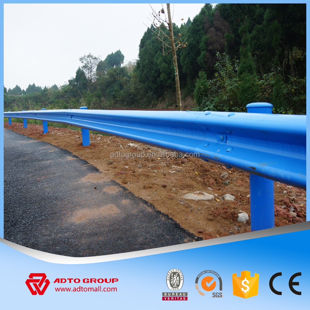 Steel Highway Guardrail For Security Protection Corrugated Beams Posts Bolts Terminals Parts Steel Road Safety Barrier