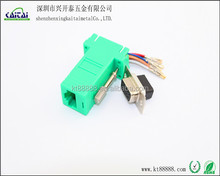 rj45 to rs232 DB9p female/male adapter