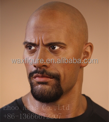 life size Hollywood celebrity dwayne Johnson silicone wax figure in stock