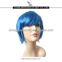 bob party wigs cosplay party wigs hair, cheap colorful party plastic wigs