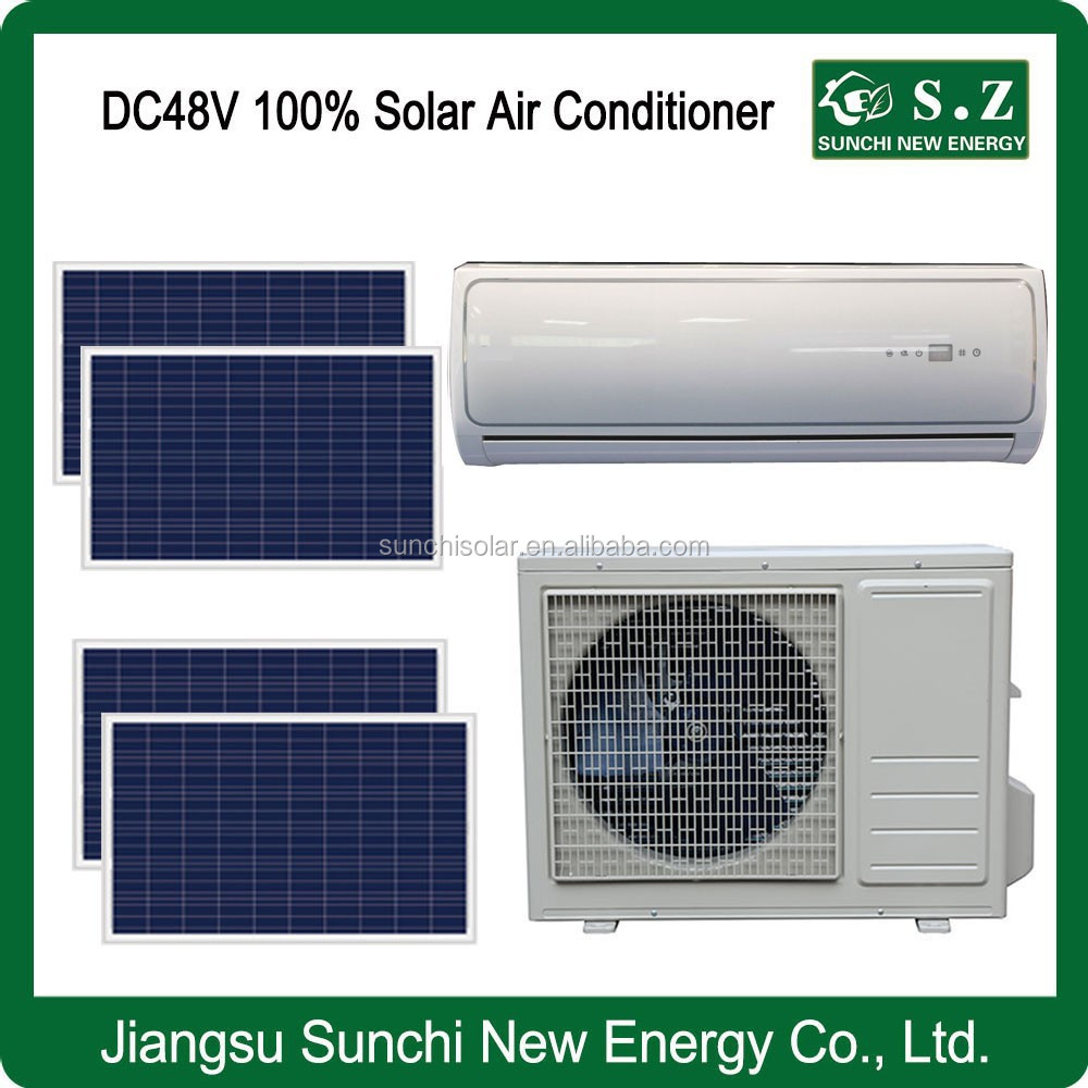 DC48V variable solar power off grid wall split pack 9000BTU 12000BTU air conditioning with central heating and air
