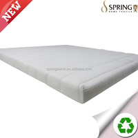 Topper Cover All Around Zipper Hypoallergenic Dust Mite Jacquard Velour Fabric Cover for Memory Foam mattress pad cover