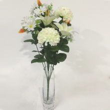 wholesale 10 heads high quality artificial real touch flower bunch