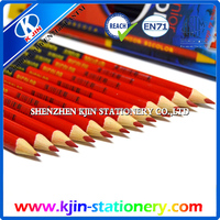 Hot sale new item Double side colored basswood 12 colors crayon color pencil