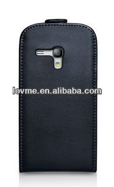 case for Samsung Galaxy S3 Mini Case i8190 Black Galaxy S3 Mini Real Leather Flip Cover
