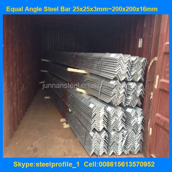 Container load Angle Steel / Angle Bar / Angle Iron astm a36 q235 ss400 steel angle on Alibaba