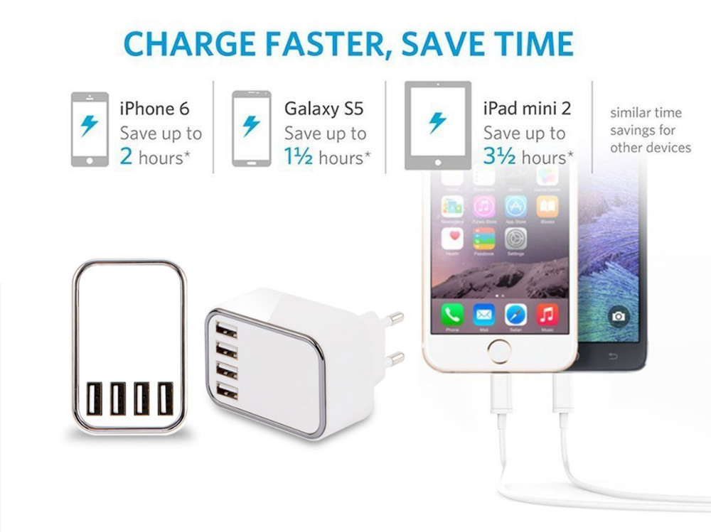SAA certified 4.5A portable charger, android phone accessories mobile usb phone charger micro usb wall charger