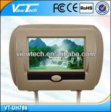 "7""universal dvd headrest monitor with TV/USB/SD"