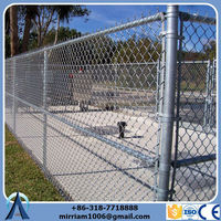China Wholesale High Quality 6 foot galvanized/pvc steel black chain link fencing
