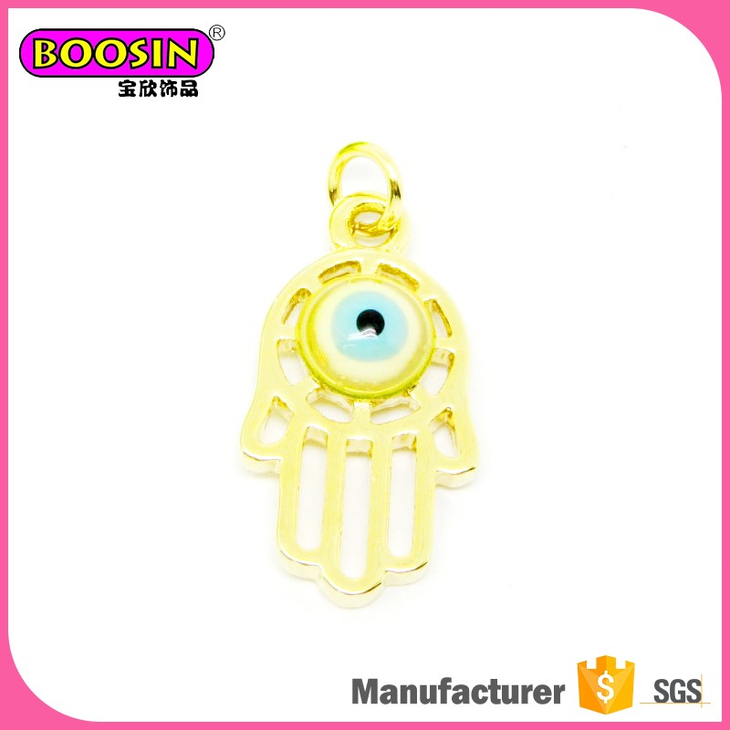 Wholesale High quality Metal Lucky Hand Hamsa and Evil Eye Pendant for Sale